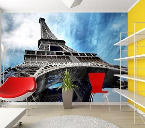 Photo Wall Mural - Wall Mural (Customized) - Eiffel