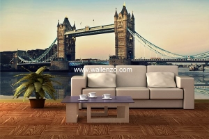 Photo Wall Mural - Wall Mural (Customized) - London Bridge
