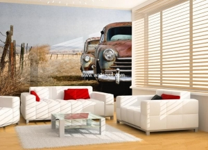 Photo Wall Mural - Wall Mural (Customized) - Vantage Car