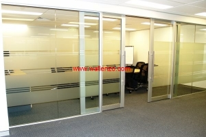 Office Renovation & Partition - Renovation & Partition - Partition with Aluminium Door